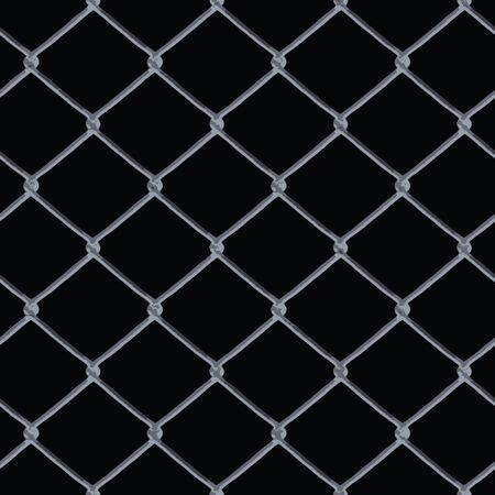 geketend: Een 3D-chain link hek textuur boven zwart - deze tegels naadloos als een patroon in alle richtingen.