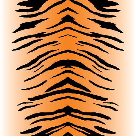 Tiger streep patroon dat tegels naadloos als een patroon in alle richtingen. Vector Illustratie