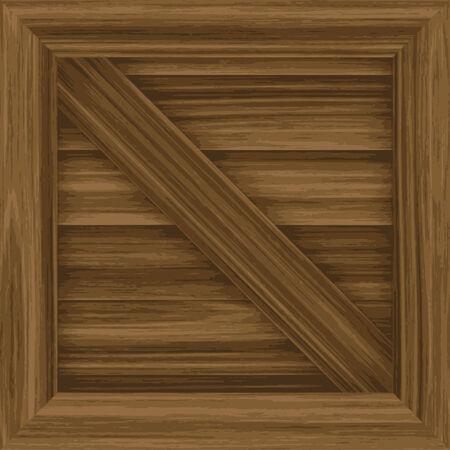 木箱イラスト - タイルをパターンとしてシームレスに。