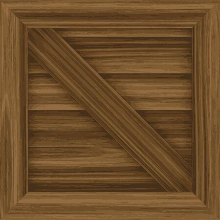 wooden crate: A wooden crate illustration - tiles seamlessly as a pattern.