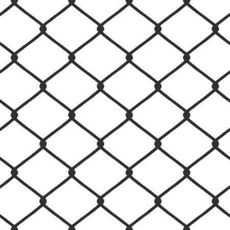 A chain link fence pattern that tiles seamlessly in any direction.  This vector image is fully customizable.