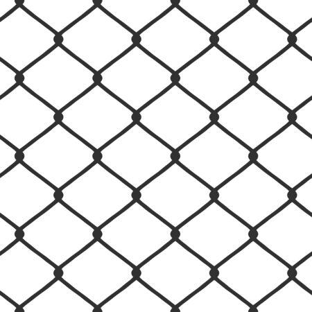 seamlessly: Una catena di recinzione link pattern piastrelle perfettamente in qualsiasi direzione. Questo vettore di immagine � completamente personalizzabile. Vettoriali