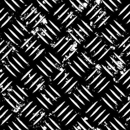 Diamond plaat metalen structuur voor een thema voor industriële of contruction. Volledig tileable - dit tegels naadloos als een patroon.  Deze vector bevat een overgetrokken afbeelding. Zie mijn portefeuille voor de oorspronkelijke versie van de kleur.