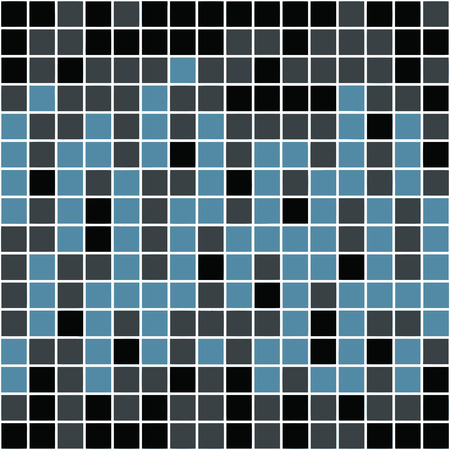 blocky: A blue tiles or pixels texture that tiles seamlessly as a pattern. Illustration