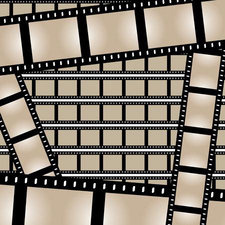 photo artistique: Film de bandes de fond, avec beaucoup de cadres vides. Ce vecteur d'image est enti�rement personnalisable. Illustration