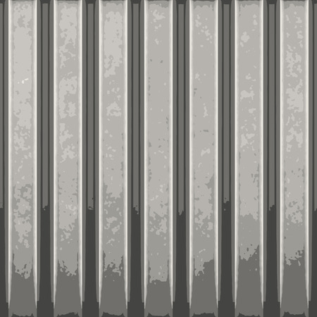 Corrugated metal with vertical ridges. A great background texture. This vector contains a traced image.  The original can be found in my portfolio. Stock Vector - 4411198