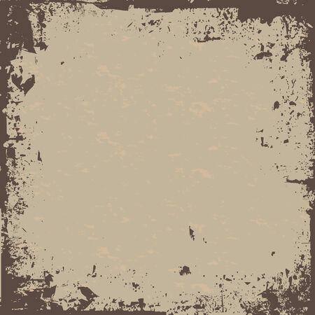 A worn looking grunge background - all elements are easily customizable in this vector image. Çizim