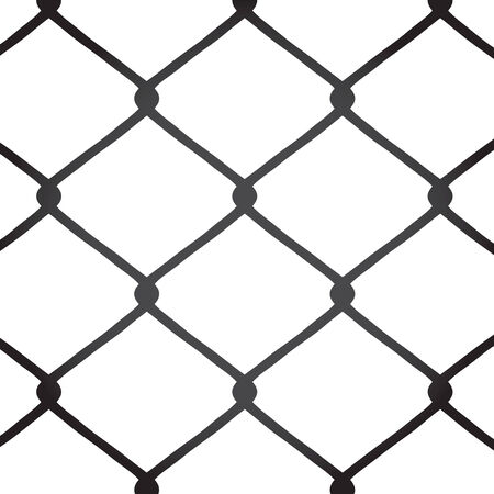 A chain link fence texture.  This vector image is fully customizable. Stock Illustratie