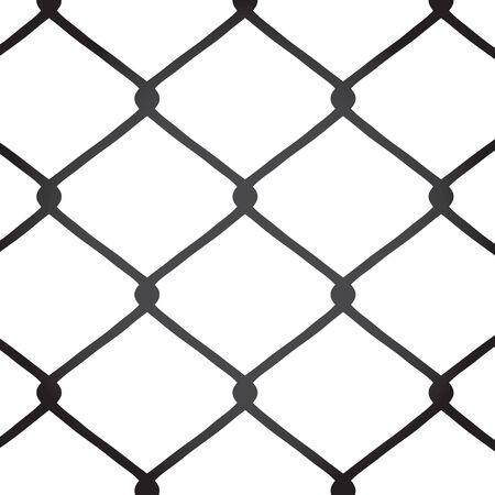 Une clôture à mailles losangées texture. Ce vecteur d'image est entièrement personnalisable.