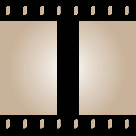 Seamless film strip background design.  Tile it as long as you need the film strip to be.  This vector image is fully customizable.