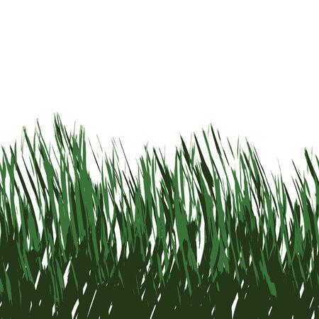 seamlessly: Verde erba isolato su bianco - senza soluzione di questo piastrelle come un modello in qualsiasi direzione.