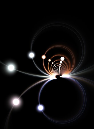An abstract fractal vortex background with plenty of copyspace - add style to any design. photo