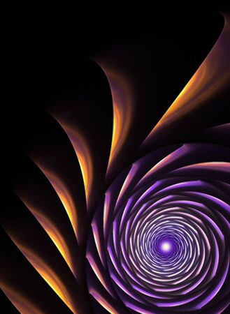 An abstract fractal vortex background with plenty of copyspace - add style to any design. Stock Photo - 4463621