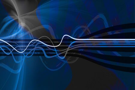 Abstract vintage looking layout with wavy lines.