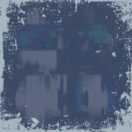 nicked: Un aspecto desgastado grunge fondo con un tono azul.