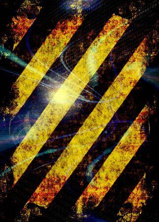 hazard stripes: A hazard stripes texture with extreme grunge effects.