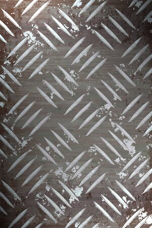 Diamond plate metal texture - a very nice background for an industrial or construction type look. Imagens
