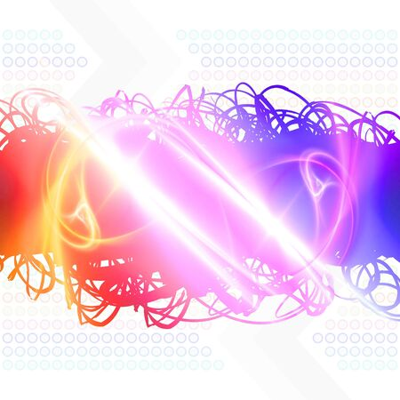 Rainbow colored abstract scribbles isolated over white. photo