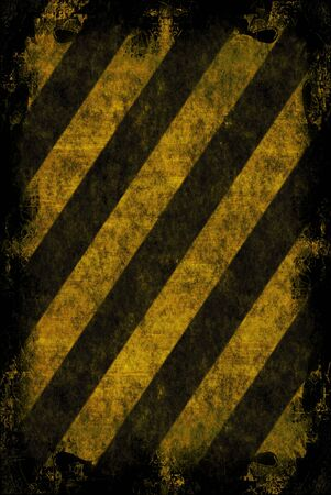 hazard: A hazard stripes texture with extreme grunge effects. Stock Photo