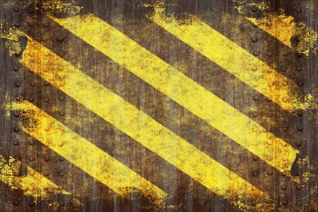 A hazard stripes texture with extreme grunge effects. photo
