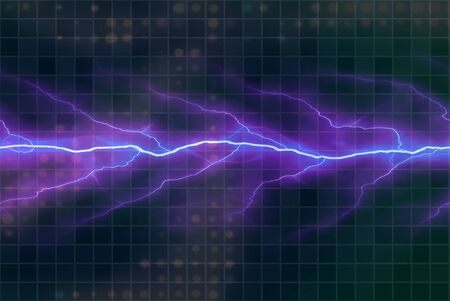A background texture with bright glowing electricity flowing through the center. photo
