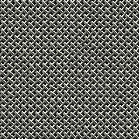 Steel wire mesh texture that tiles seamlessly as a pattern.