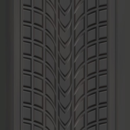 A car or truck tire tread texture that tiles seamlessly. Stock Photo