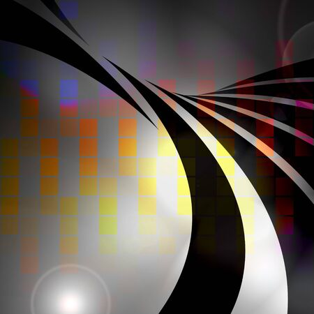 An abstract graphic equalizer design with swoosh lines. photo