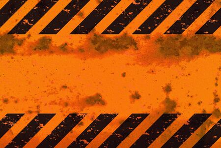 hazard: A grungy and worn hazard stripes texture. Stock Photo