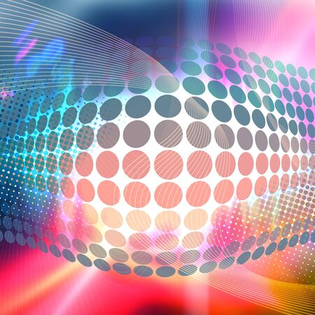 Abstract background with glowing circles and colorful accents. Stock Photo - 4594405