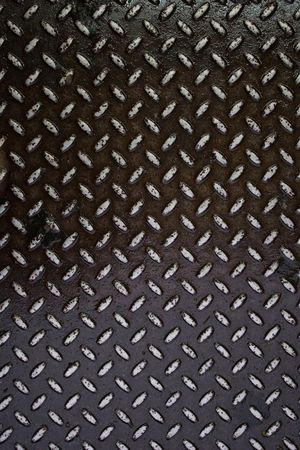 brushed aluminium: Closeup of real diamond plate material - this is a photo not an illustration.