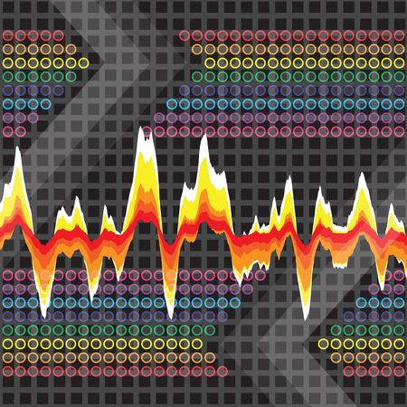 An audio waveform over a grid background. It also could work as a heartrate monitor.
