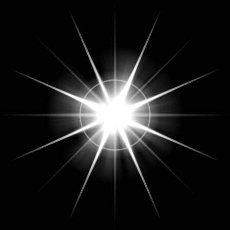 An abstract lens flare. Very bright burst - works great as a background. Stock Photo - 4717794