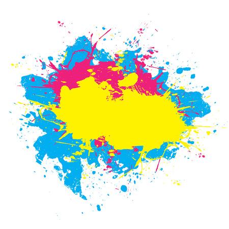 Abstract schilderen geplas elementen in een CMYK-kleurenschema. Deze vector element is volledig aanpasbaar. Stockfoto - 4728828