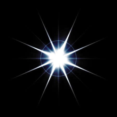 radiating: An abstract lens flare. Very bright burst - works great as a background. Stock Photo
