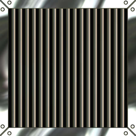 brushed aluminum: A shiny metallic air vent grille