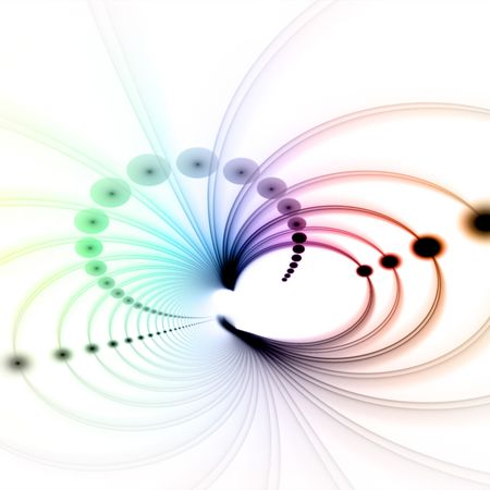 An abstract fractal vortex background with plenty of copyspace.  Add this colorful and stylish texture to any design. Stock Photo - 4822240