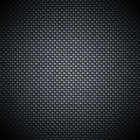 スーパーの詳細な炭素繊維の背景。実際のストランドとカーボン布の繊維でも表示されます。 写真素材