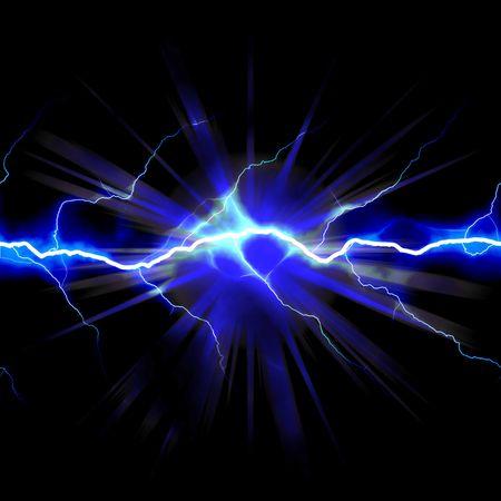 strom: Hell leuchtende Blitze oder Strom mit einem leuchtenden Stern B�ste Abfangen Akzent.