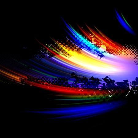 Une peinture abstraite splatter texture de fond abstrait avec beaucoup d'éléments de fractales copie espace. Banque d'images - 4840544