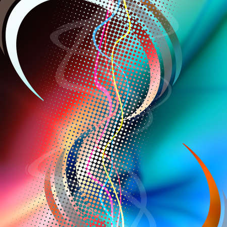vibrations: An audio waveform over an abstract background.  Stock Photo
