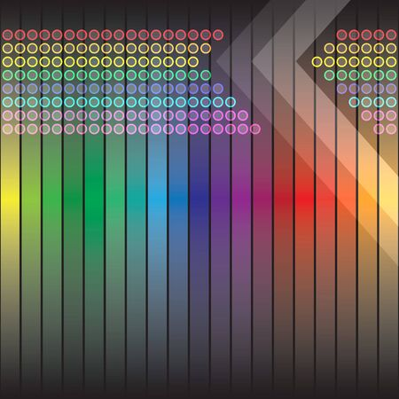 A rainbow colored abstract design template or layout. photo