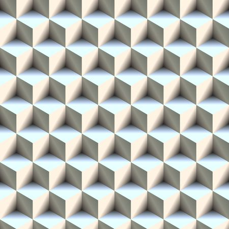 seamlessly: 3d boxes texture that tiles seamlessly as a pattern in any direction. Stock Photo