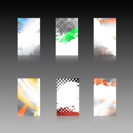 Een assortiment van 6 moderne visitekaartje sjablonen Stockfoto