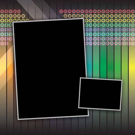 Funky Regenbogen Seitenlayout mit copyspace für Ihren Text und Bilder. Standard-Bild - 4964462