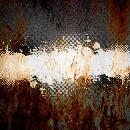 splats: An abstract paint splatter background texture with lots of copy space.