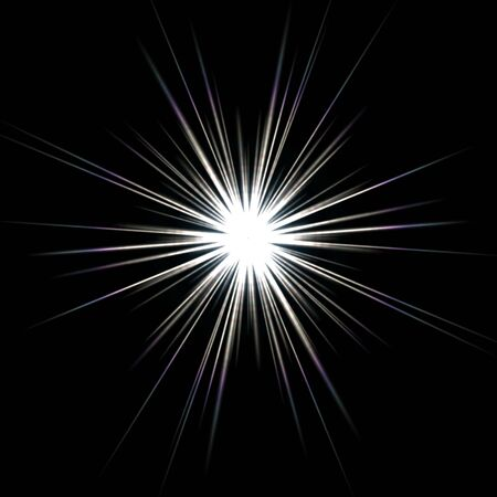 A bright solar flare over a black background. Stock Photo - 5081816