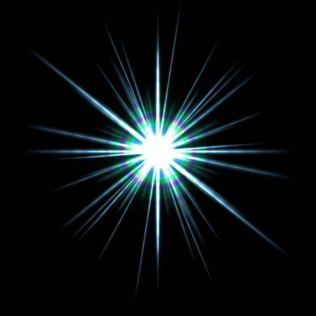 A bright solar flare over a black background. Stock Photo - 5100058