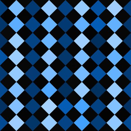 seamlessly: A blue and black checkered squares texture that tiles seamlessly.