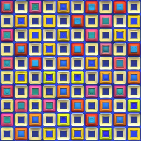 A rainbow colored checkered squares texture that tiles seamlessly.